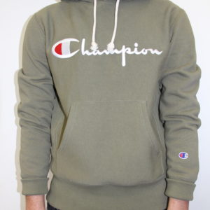 CHAMPION – Hooded Sweatshirt Green Kaki