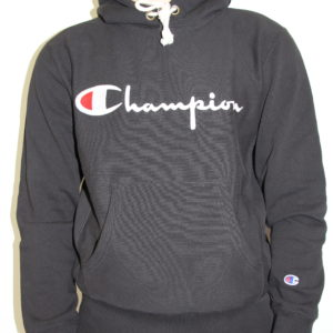 CHAMPION – Hooded Sweatshirt Black