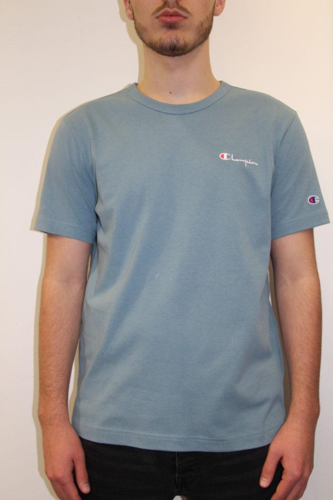 champion small logo tee shirt bleu canard. Black Bedroom Furniture Sets. Home Design Ideas