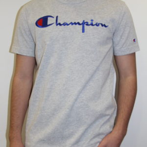 CHAMPION – Script Tee-shirt Gris