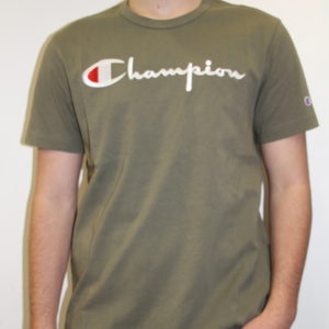 CHAMPION – Script Tee-shirt Kaki