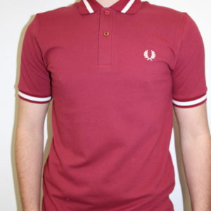FRED PERRY – Single Tipped Bordeaux Bande Blanche