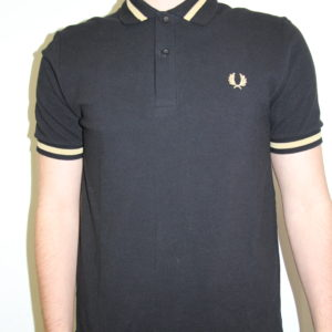 FRED PERRY – Single Tipped Noir Bande Jaune