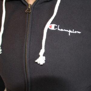 CHAMPION – Sweatshirt Zippé Reverse Wave Black
