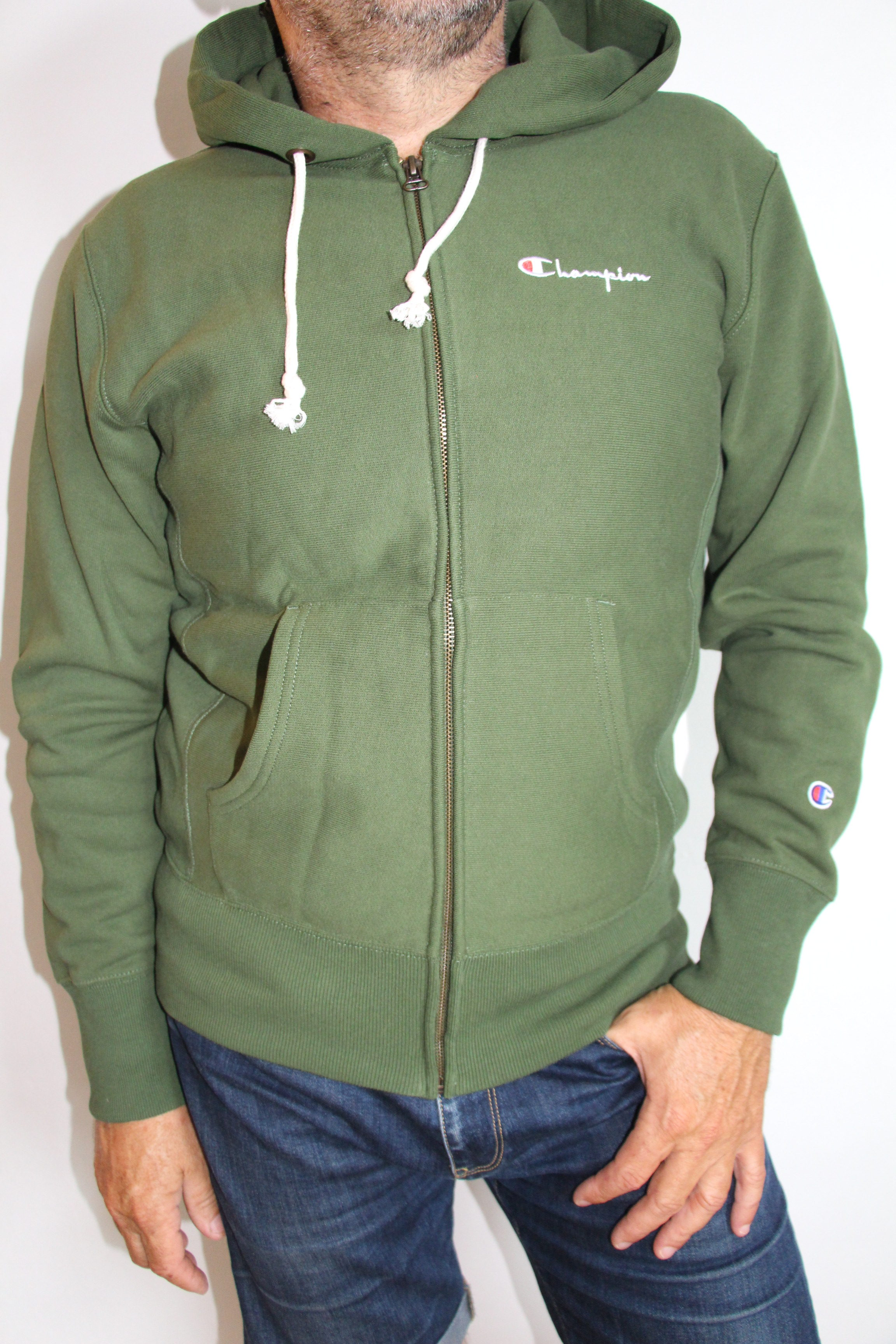 CHAMPION , Sweatshirt Zippé Reverse Wave Green