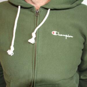 CHAMPION – Sweatshirt Zippé Reverse Wave Green