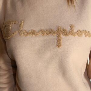 CHAMPION – Sweat Brodé Camel Femme