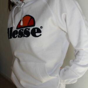 ELLESSE – Sweat Brodé Blanc