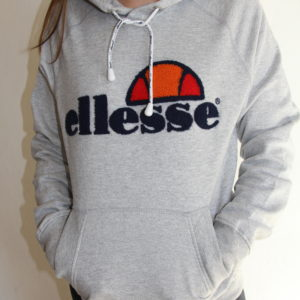 ELLESSE – Sweat Brodé Gris