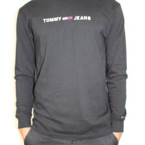 TOMMY HILFIGER – Tshirt Longue Manches Noir