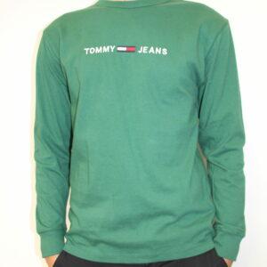 TOMMY HILFIGER – Tshirt Longue Manches Vert
