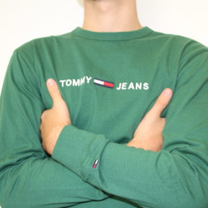 TOMMY HILFIGER – Tshirt Longue Manches Vert