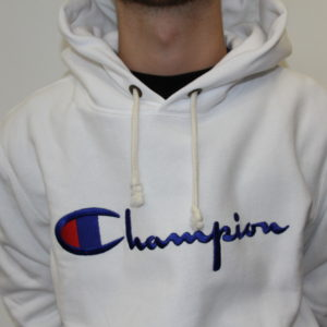 CHAMPION – Sweat à Capuche Blanc