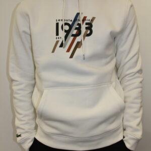 LACOSTE – Sweatshirt à Capuche En Coton Avec Marquage 1933