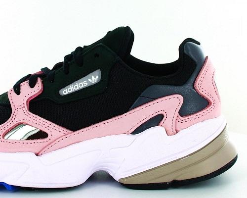 adidas falcon femme noir et rose