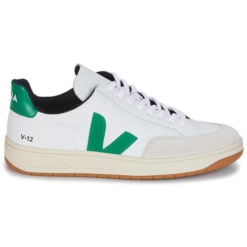 jolie et colorée prix plus bas avec meilleure vente VEJA - Chaussure V12 B Mesh White Emeraude