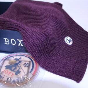 JOTT – Box Bonnet et Echarpe Bordeaux