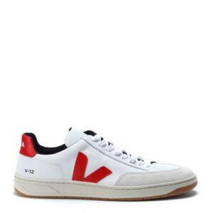 VEJA – Chaussure V-12 Mesh White Pekin