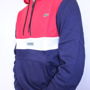 281e4683f09a LACOSTE – Sweat Zippé Capuche Rouge LACOSTE – Sweat Zippé Capuche Rouge