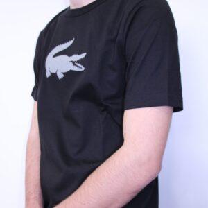 LACOSTE – Tee Shirt Col Rond Noir
