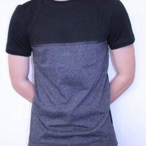 LACOSTE – Tee Shirt Col Rond Color Block Noir