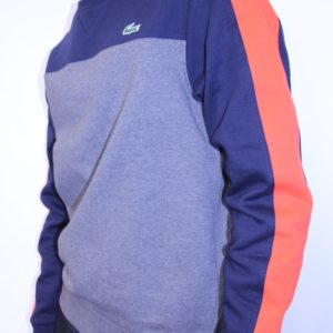 LACOSTE – Sweat Molleton Color Block Marine