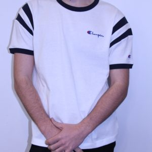 CHAMPION – Tee Shirt Bande Blanc