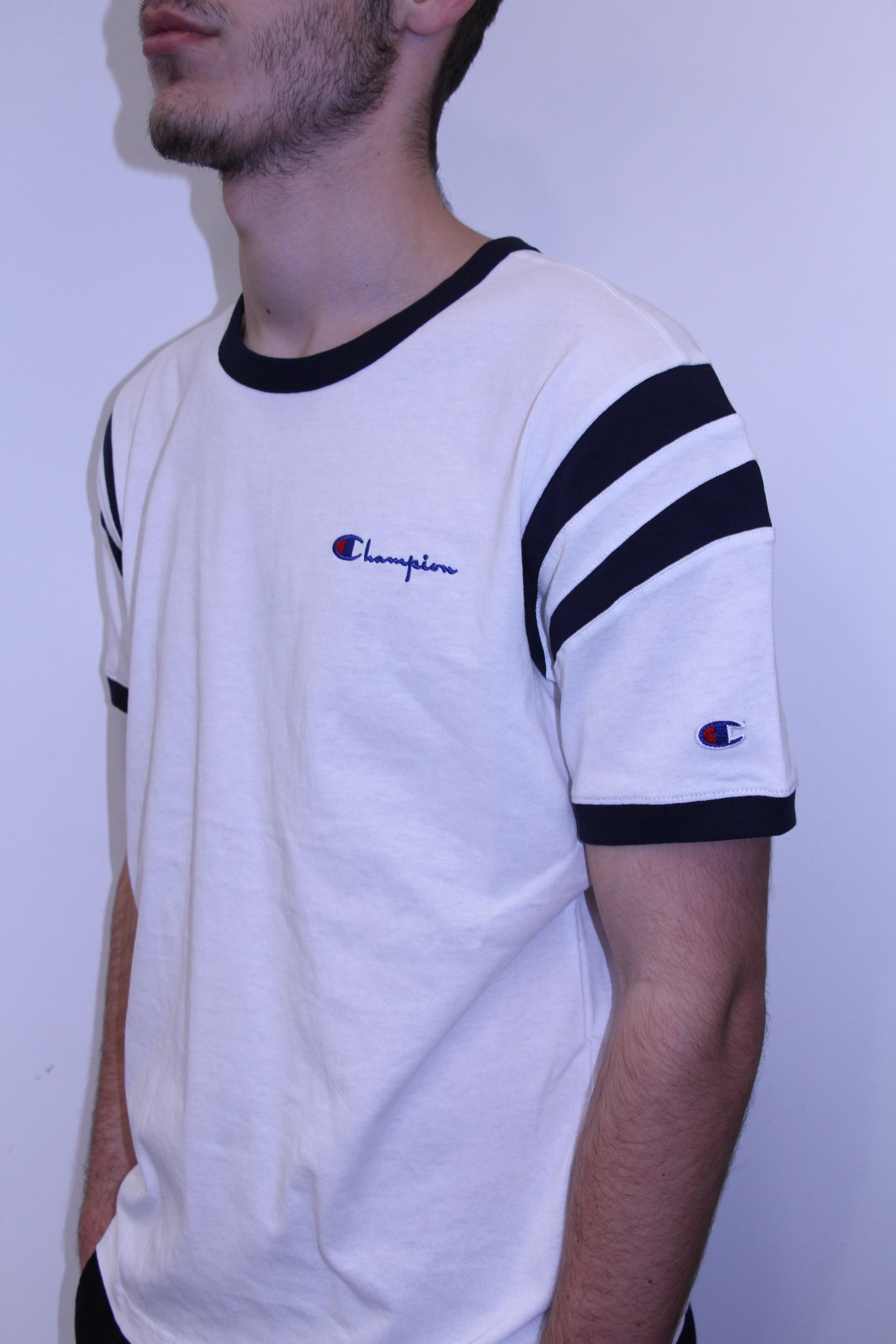 Aventure Bande Rxcebod Tee Sport Blanc Champion Shirt BordCeWx