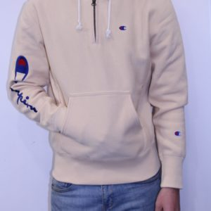 CHAMPION – Sweat Zippé Logo Manche Nude