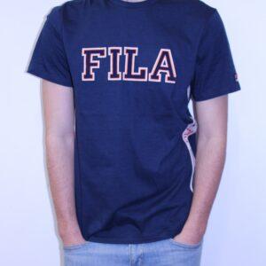 FILA – Tee Shirt Bande Brodée Marine