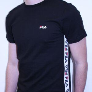 FILA – Tee Shirt Bande Brodée Talan Noir
