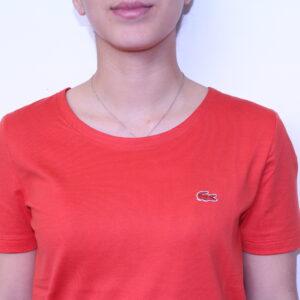 LACOSTE – Tee-Shirt uni Femme Orange