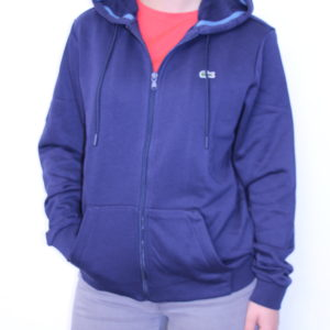 09dbbf2c661b LACOSTE – Sweat-shirt Zippé Molleton Marine ...