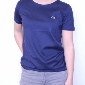 LACOSTE – Tee-Shirt uni Femme Marine