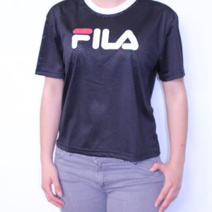 FILA – Tee-Shirt Court en Maille Black