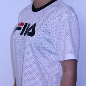 FILA – Tee-Shirt Court en Maille White