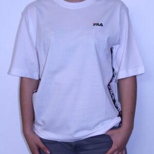FILA – Tee-Shirt Femme à Bandes White