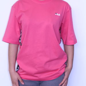 FILA – Tee-Shirt Femme à Bandes Pink