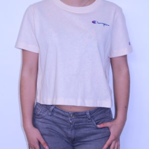 CHAMPION – Tee-Shirt Femme Cropped Nude