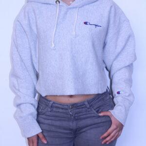 CHAMPION – Sweat- Shirt à Capuche Femme Grey