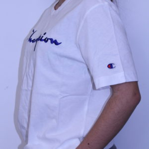 CHAMPION – Script Tee- Shirt White