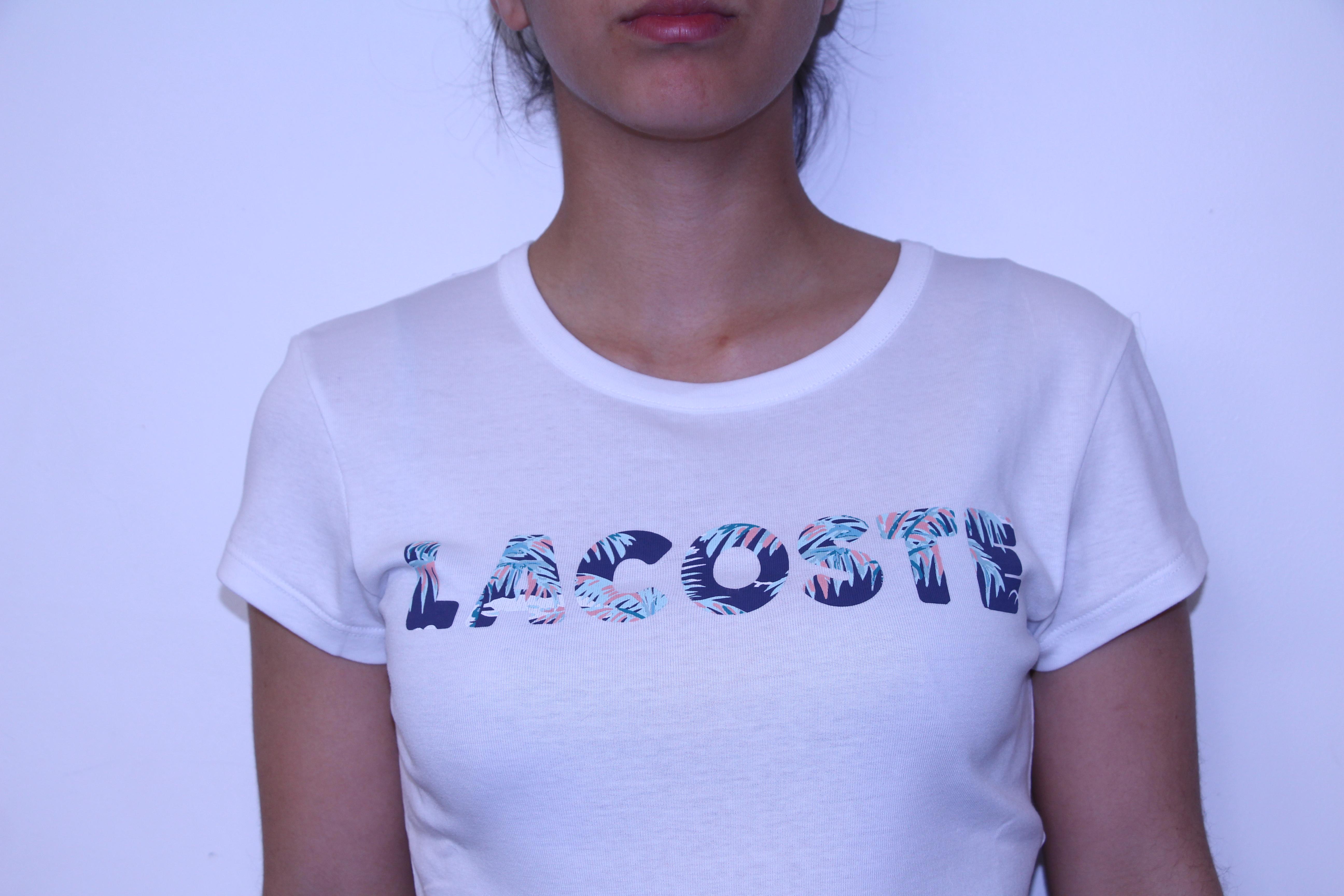 LACOSTE Tee-shirt imprimé Palmier - SPORT