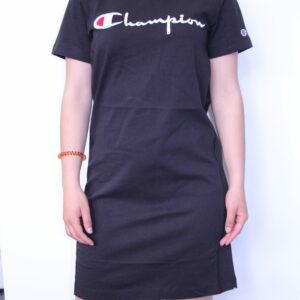 CHAMPION – Robe femme coton Brodée Noir