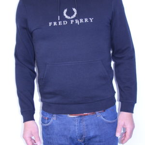 FRED PERRY – Sweat shirt Capuche Brodé Black