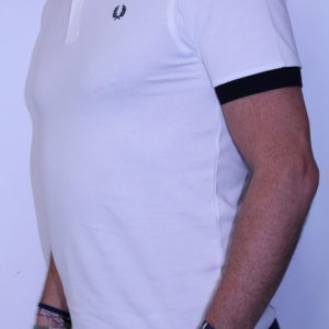 FRED PERRY – Polo Colour Block Blanc