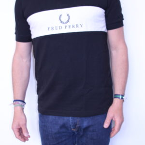 FRED PERRY – Polo à Empiècement Bi-Color Black