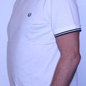 FRED PERRY – Tee shirt double liseré Snow