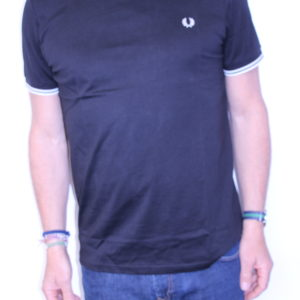 FRED PERRY – Tee shirt double liseré Black