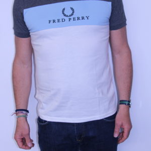 FRED PERRY – Tee shirt Brodé Charcoal