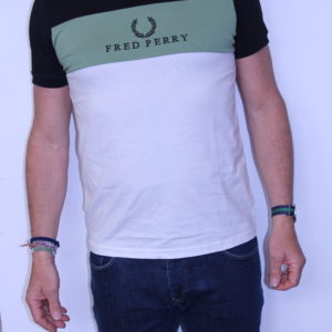 FRED PERRY – Tee shirt Brodé Black